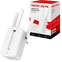Mercusys bežični pojačivač dometa (Range Extender) 300Mbps, (2.4GHz), 802.11b/g/n, 3×vanjska antena fiksna, WPS tipka