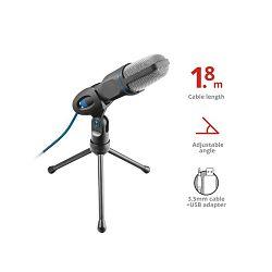 Mikrofon TRUST Mico, 3.5mm/USB, crni (20378)