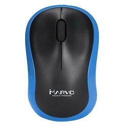 Miš MARVO DWM100BL, bežični, 1000 DPI, crno - plavi