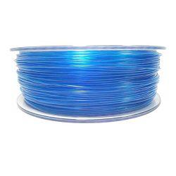 Filament for 3D, PET-G, 1.75 mm, 1 kg, blue transp PETG transparent blue