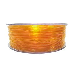 Filament for 3D, PET-G, 1.75 mm, 1 kg, orange tran PETG transp. orange