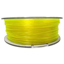 Filament for 3D, PET-G, 1.75 mm, 1 kg, yellow tran PETG yellow transparent