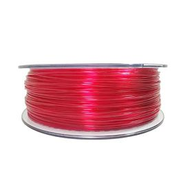 Filament for 3D, PET-G, 1.75 mm, 1 kg, red transpa PETG transparent red