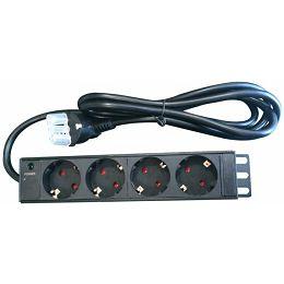 "NaviaTec PDU (Power Distribution Unit) sa 4x Schuko priključaka, kabel Schuko, 10"""