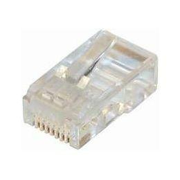 NaviaTec CAT5e unshielded RJ45 modular plug round cable 10pc