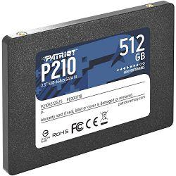 "Patriot SSD P210 R520/W430, 512GB, 7mm, 2.5"" P210S512G25"