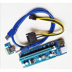 PCI-E Extender, Riser USB 3.0, V009S, 60cm