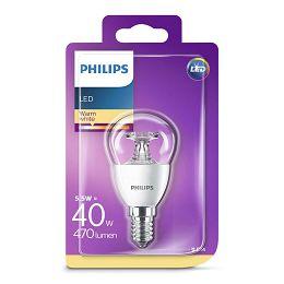 Philips LED žarulja, E14, P45, topla, 5.5W, prozir