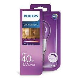 Philips LED žarulja, E14, P45, topla, 5W, dim