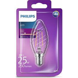 Philips LED žarulja, E14, ST35, topla, 2W, prozir