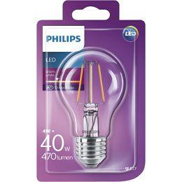 Philips LED žarulja, E27, A60, topla, 4W, prozir