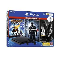 PlayStation 4 1TB F chassis + iGRE (Ratchet and Clank, The Last of Us, Uncharted 4 Hits)
