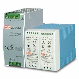 Planet 48V, 75W Din-Rail Power Supply (NDR-75-48, adjustable 48-56V DC Output)