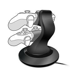 PS4 punjač SpeedLink TWINDOCK punjač za 2 kontrolera , crni