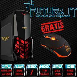 *Računalo FuturaIT Budget Gamer (AMD Athlon X4 950, 8GB DDR4, 1TB HDD, GTX 1050 2GB, DVI/HDMI, noOS) + Poklon gaming miš