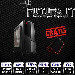 Računalo FuturaIT Budget V05 (Intel Pentium G5400, 8GB DDR4,240GB SSD, GTX 1650 4GB, noOS) + gaming podloga