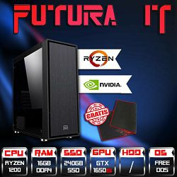 Računalo FuturaIT BudgetGTXGamer V2 (Ryzen 3 1200, 16GB DDR4, 240GB SSD, GTX 1650 Super, noOS) - Poklon gaming podloga