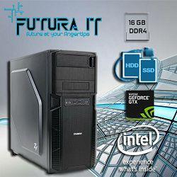 Računalo FuturaIT CADStation (i7 8700, Z370, 16GB, 240GB SSD, 2TB HDD, GTX1050Ti 4GB)