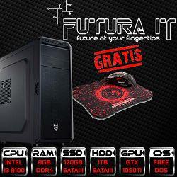 *Računalo FuturaIT CoffeeGamer (Intel i3 8100, H310M, 8GB DDR4, SSD, 1TB HDD, GTX 1050 Ti 4GB, 450W) + Gaming miš i podloga