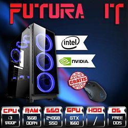 Računalo FuturaIT eSports Gamer (Intel i3 9100F, H310, 16GB DDR4, SSD, GTX 1660, 500W) + poklon miš