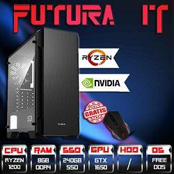 Računalo FuturaIT GTXGamer V01 (Ryzen 3 1200, 8GB DDR4, 240GB SSD, GTX1650 4GB, noOS) + Poklon gaming miš