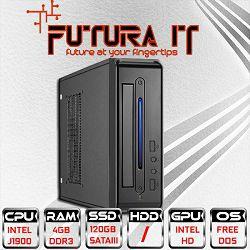 Računalo FuturaIT Mini Office (QuadCore J1900, 4GB DDR3, Intel HD, 120GB SSD, VGA/HDMI)