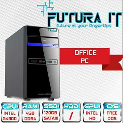 Računalo FuturaIT OfficeCL V01 (Intel G4900 3.1GHz, 4GB DDR4, 120GB SSD, VGA/DVI/HDMI) FreeDOS