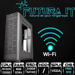 Računalo FuturaIT SlimGamer (Ryzen 2200G, 8GB DDR4, 240GB SSD, 450W, noOS, WiFi)