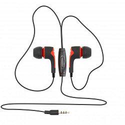 SBOX in-ear slušalice s mikrofonom EP-791 crvene