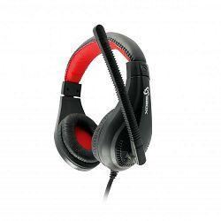 SBOX on-ear slušalice s mikrofonom HS-1520 crno-crvene