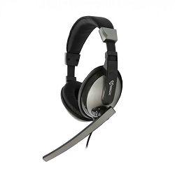 SBOX on-ear slušalice s mikrofonom HS-302 crne