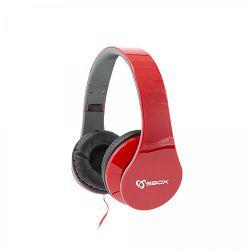 SBOX on-ear slušalice s mikrofonom HS-501 crvene