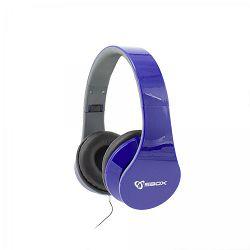 SBOX on-ear slušalice s mikrofonom HS-501 plave