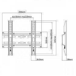 """SBOX zidni stalak za TV 23""""-43"""" , do 35 kg PLB-2522F"""