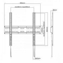 "SBOX fiksni nosač 32""-55"", do 35kg PLB-2544F"