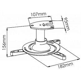 Stropni nosač projektora PM-101, do 15kg