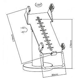 SBOX stalak za POS terminal PTM-03