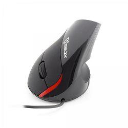 SBOX vertikalni žičani miš VM-921 crni