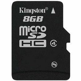 Kingston  8GB microSDHC Class 4 Flash Card Single Pack w/o Adapter, EAN: 740617154115