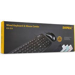 Set EVEREST KM-01K tipkovnica + miš, US/HR layout, crna