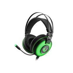 Slušalice RAMPAGE Alpha-X s mikrofonom, 7.1 Surround Sound, USB, zelene