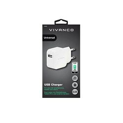 Strujni punjač Vivanco 2.4A Fast Charging USB