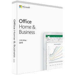 Microsoft Office Home & Business 2019 32-bit/x64-bit Eng, medialess (Word,Excel,PowerPoint,OneNote i Outlook)