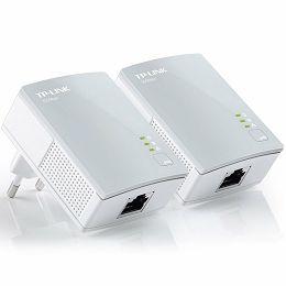 AV500 Nano Powerline Ethernet Adapter Starter Kit, Ultra Compact Size, 500Mbps Powerline Datarate, 1 Fast Ethernet port, HomePlug AV, Green Powerline, Plug and Play, Twin Pack