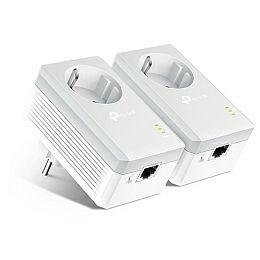 TP-Link AV600 Powerline mrežni adapter, 600Mbps, 1× mrežni ulaz, dodatna strujna utičnica, HomePlug AV (duplo pakiranje)
