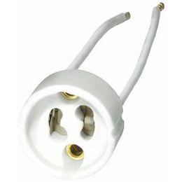 Transmedia Ceramic socket GU10 for LED and halogen lamps, 230 V