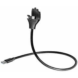 Transmedia flexible hand-holder for smartphones USB A - Micro USB B