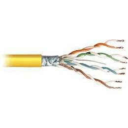 Transmedia FTP-Cable, Stranded Wire, CAT5e. yellow, on spool, 100 m