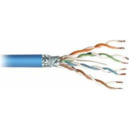 Transmedia SFTP-Cable, Stranded Wire, CAT5e. blue, on spool, 100 m