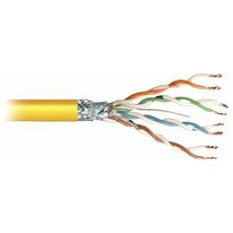 Transmedia SFTP-Cable, Stranded Wire, CAT5e. yellow, on spool, 100 m